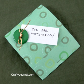 Crafty Journal - Matchbook Money Gift