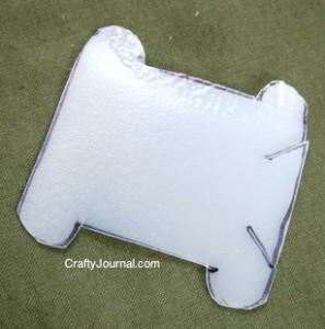 Crafty Journal - Embroidery Thread Bobbin from a Milk Jug