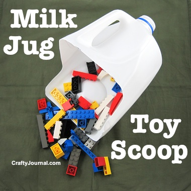 Milk Jug Toy Scoop by Crafty Journal