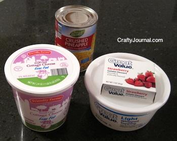Crafty Journal - Pink Fluff Fruit Dessert Recipe