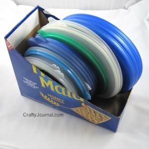 Crafty Journal - Cracker Box Lid Holder