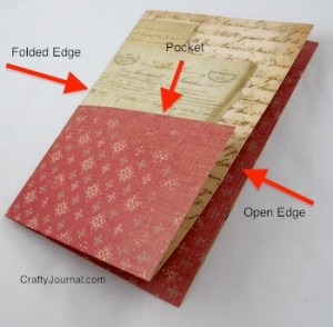 Crafty Journal - Folded Paper Pocket for a Book