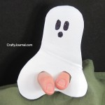 Ghost Finger Puppet from a Milk Jug
