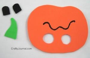 Crafty Journal - Jack O Lantern Finger Puppet