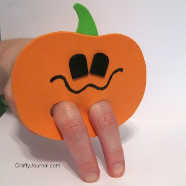 Crafty Journal - Jack O Lantern Finger Puppet