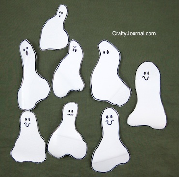 Crafty Journal - Milk Jug Ghost Garland
