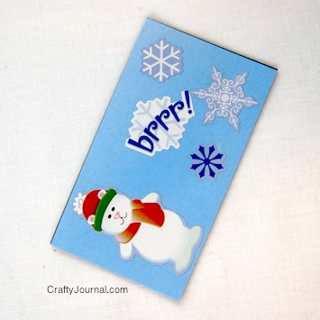 Crafty Journal - Christmas Adhesive Magnets