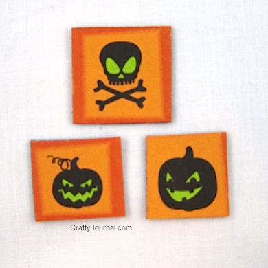 Crafty Journal - Halloween Adhesive Magnets