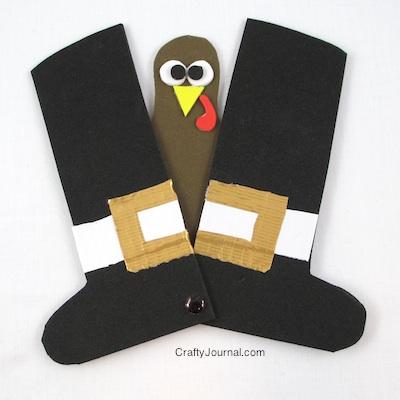 Peek a Boo Turkey by Crafty Journal