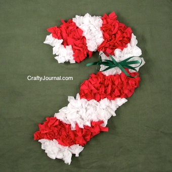 Scrunched Paper Candy Cane by Crafty Journal