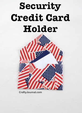 Aluminum Security Credit Card Holder by Crafty Journal
