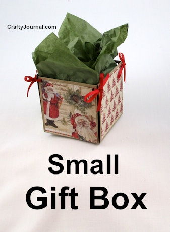 Small Gift Box by Crafty Journal