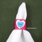 Quick Valentine Napkin Rings