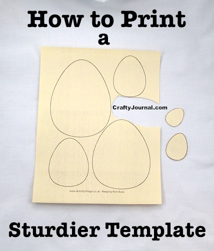 How to Print a Sturdier Template by Crafty Journal