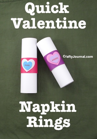 Quick Valentine Napkin Rings by Crafty Journal