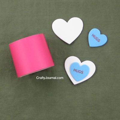 Quick Valentine Napkin Rings - Crafty Journal
