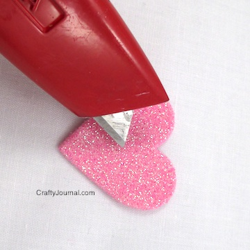Sparkly Heart Button Covers - Crafty Journal