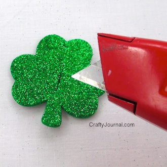 Glitter Shamrock Button Covers - Crafty Journal