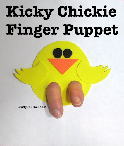 Kicky Chickie Finger Puppet by Crafty Journal