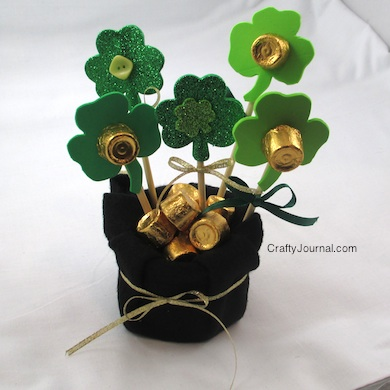 Pot of Gold Shamrock Bouquet - Crafty Journal