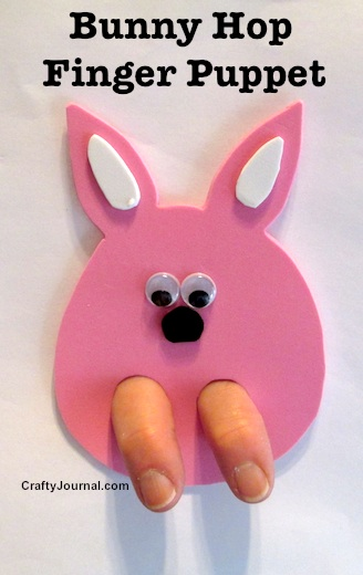 Bunny Hop Finger Puppet by Crafty Journal