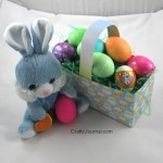 Easter Basket from a Cereal Box