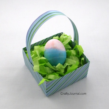 DIY Easy Easter Basket Grass - Crafty Journal