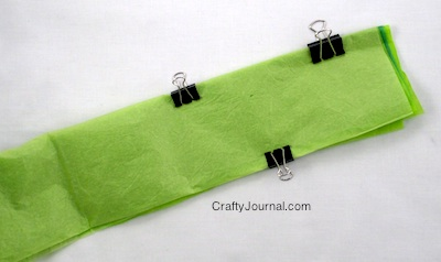 Use binder clips if needed to help hold the layers together.
