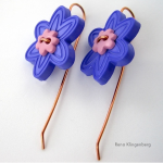 Flower Power Button Earrings - Jewelry Making Journal