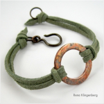 Rustic Copper Washer and Leather Bracelet - Jewelry Making Journal