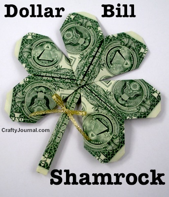 Shamrock Dollar Bill by Crafty Journal