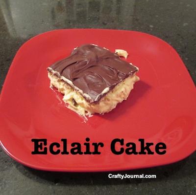 Eclair Cake - Crafty Journal