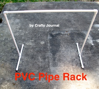 PVC Pipe Rack - Crafty Journal