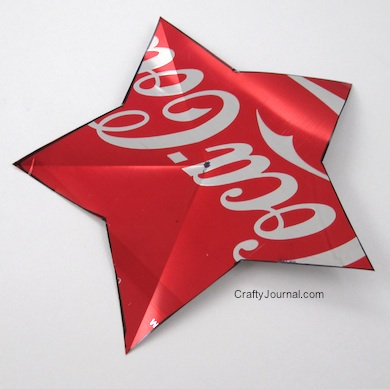 Aluminum Can Dimensional Star - Crafty Journal