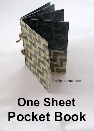 Basic One Sheet Folded Pocket Book - Crafty Journal