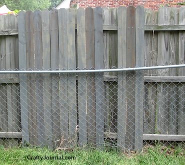 Neglected Fence Fix When It Isn't Your Fence - Crafty Journal