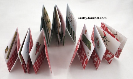 One Sheet Folded Advent Pocket Book - Crafty Journal