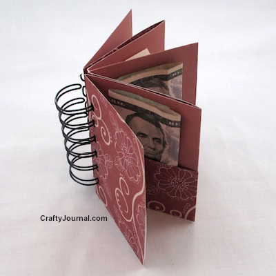 One Sheet Folded Gift Pocket Book - Crafty Journal