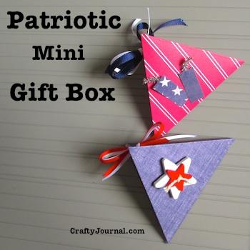 Patriotic Mini Gift Box - Crafty Journal