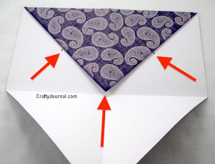 Fold 6 Pockets from 1 Sheet of Paper by Crafty Journal