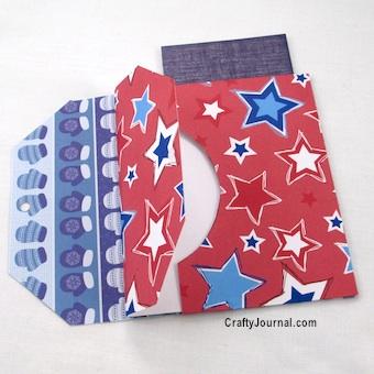 Back to Back Tag Pockets (Bonus! Secret Pocket) by Crafty Journal
