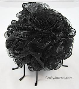 Bath Pouf Spider by Crafty Journal
