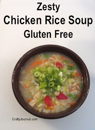 Zesty Chicken Rice Soup, Gluten Free by Crafty Journal