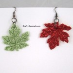 Glittery Fall Leaf Earrings