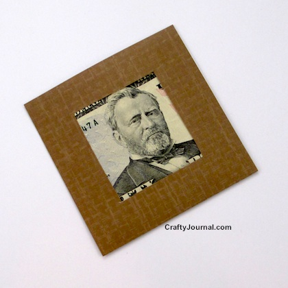 Money Gift in a Papercrafted Frame by Crafty Journal