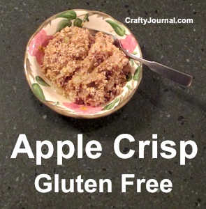 Apple Crisp - Gluten Free. by Crafty Journal