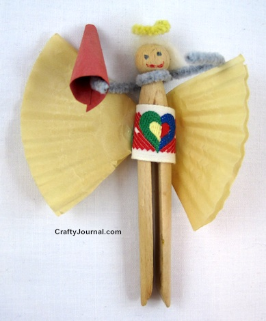 Clothespin Angel by Crafty Journal