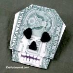 Dollar Bill Skull