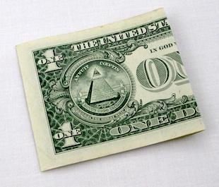 Folded Dollar Bill