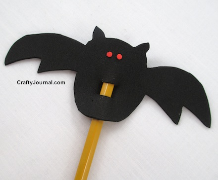 Vampire Bat Pencil Topper by Crafty Journal
